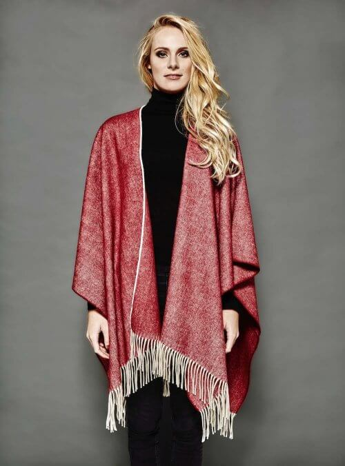 PONCHO DEIA LONG BORDEAUX