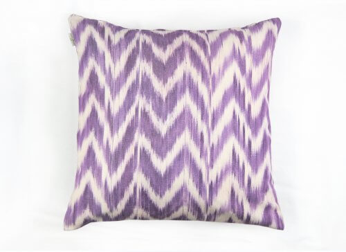 Housse Coussin IKAT TALAIA LILAS