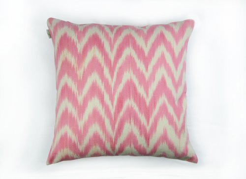 Housse Coussin IKAT TALAIA ROSE