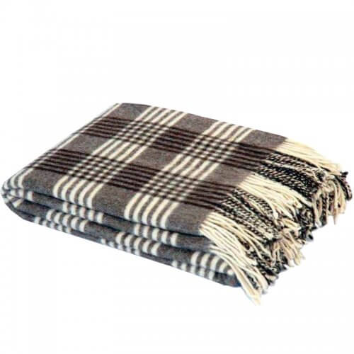 PLAID MAPACHA TRADITIONNEL FRANGES GAIDOVAR