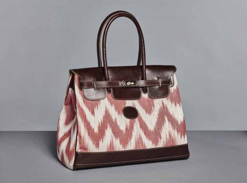 SAC CARMEN MEDIUM IKAT ROUGE