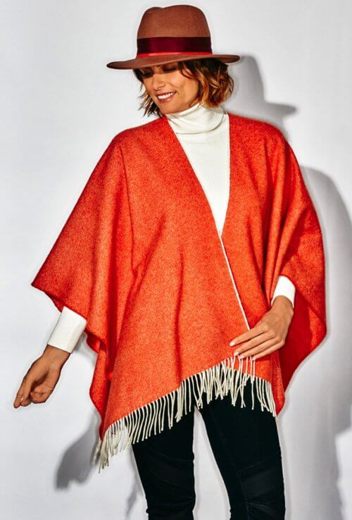 PONCHO DEIA COURT ORANGE
