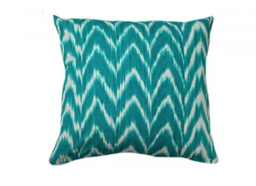Housse Coussin IKAT TALAIA TURQUOISE
