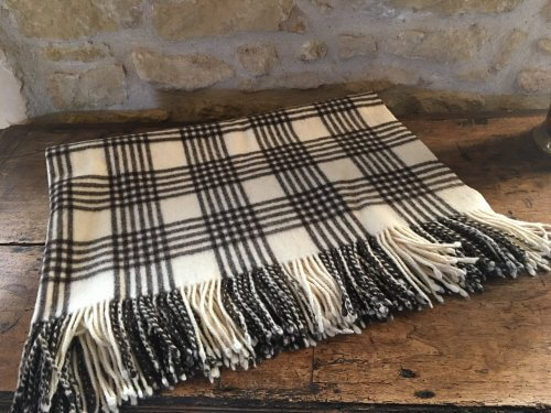 PLAID MAPACHA TRADITIONNEL FRANGES ENDRINAL