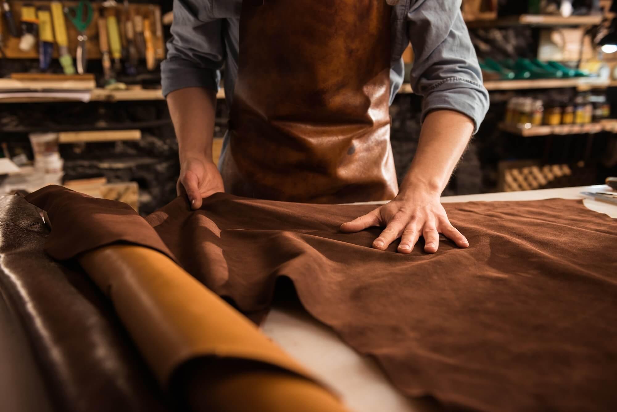 Mapacha sac en cuir laines mérinos